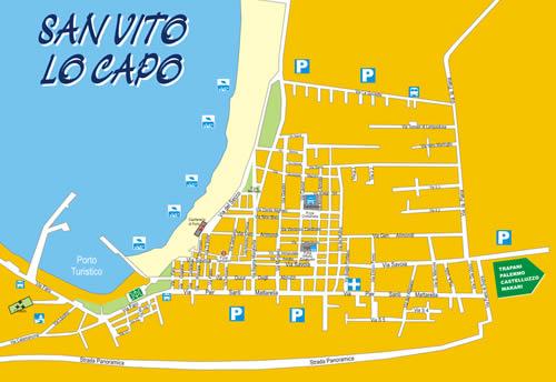 Mappa San Vito lo Capo