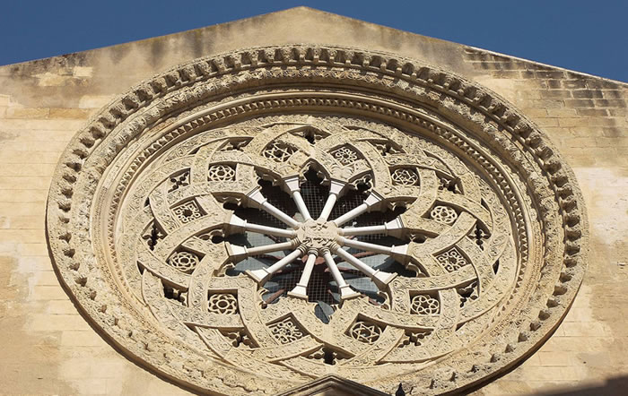 The rose window of Sant´Agostino