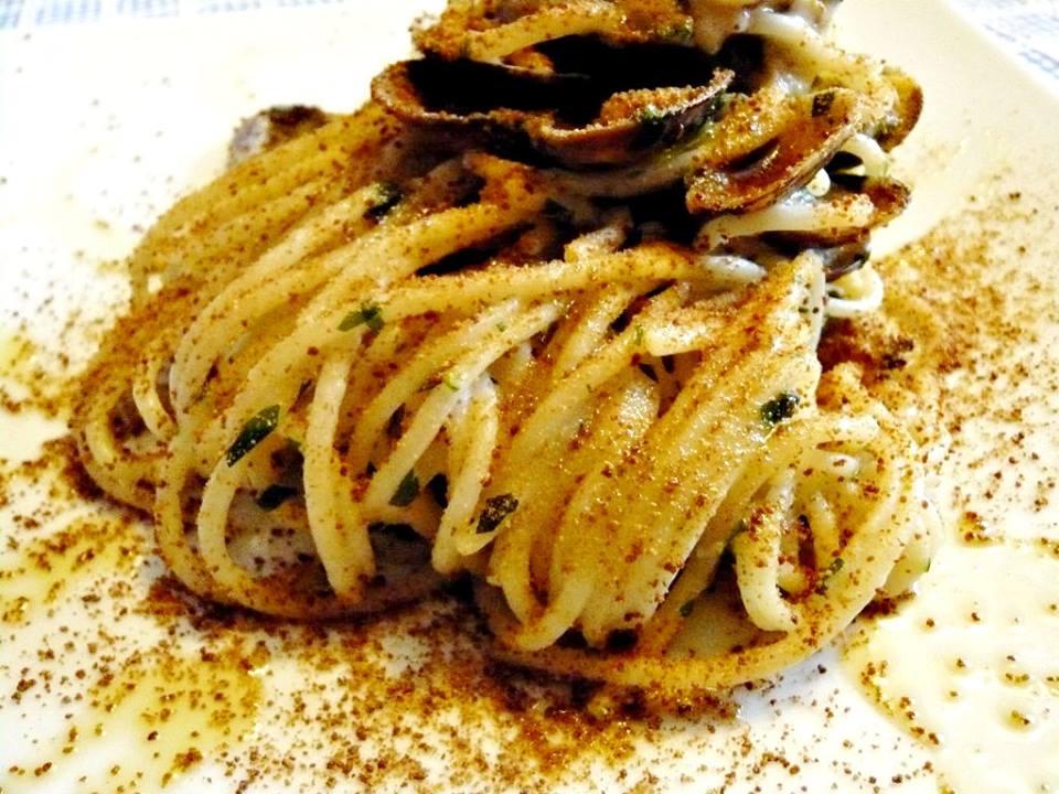 Spaghetti con bottarga di Tonno