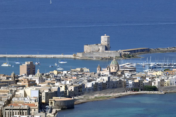 Trapani and Colombaia tower