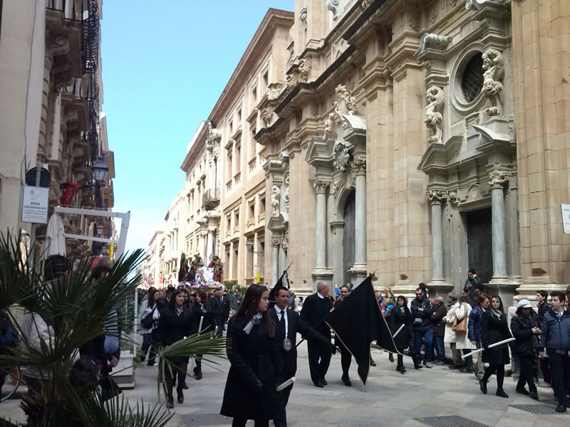 procession at the historic center