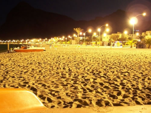 San Vito lo Capo beach by night