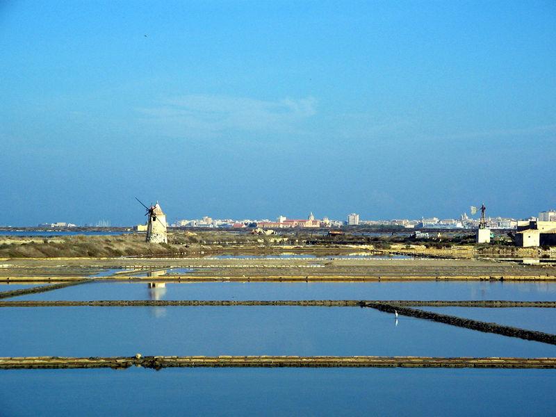 Salt Pans and windmill