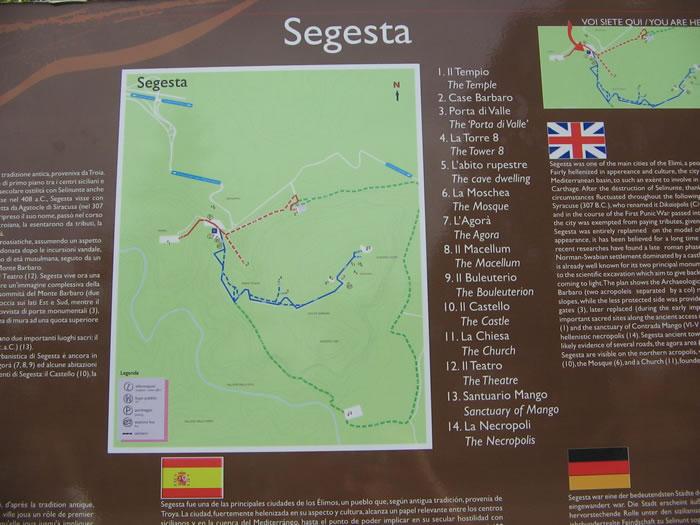 Mappa di Segesta