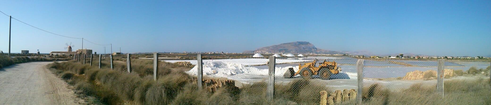 Panorama Saline Trapani