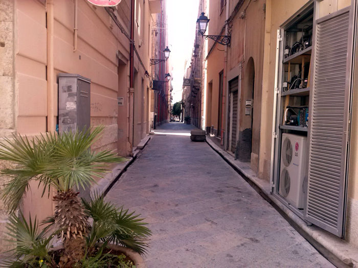 Trapani historical center alleys