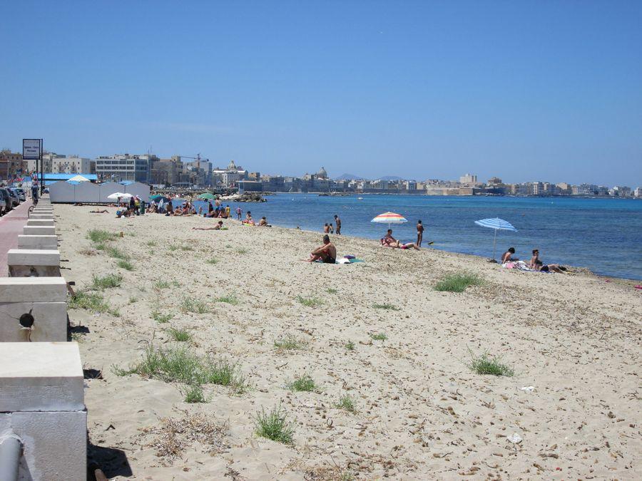 Spiaggia del Lungomare di Trapani