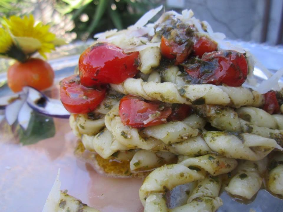 Busiate pasta with trapanese pesto