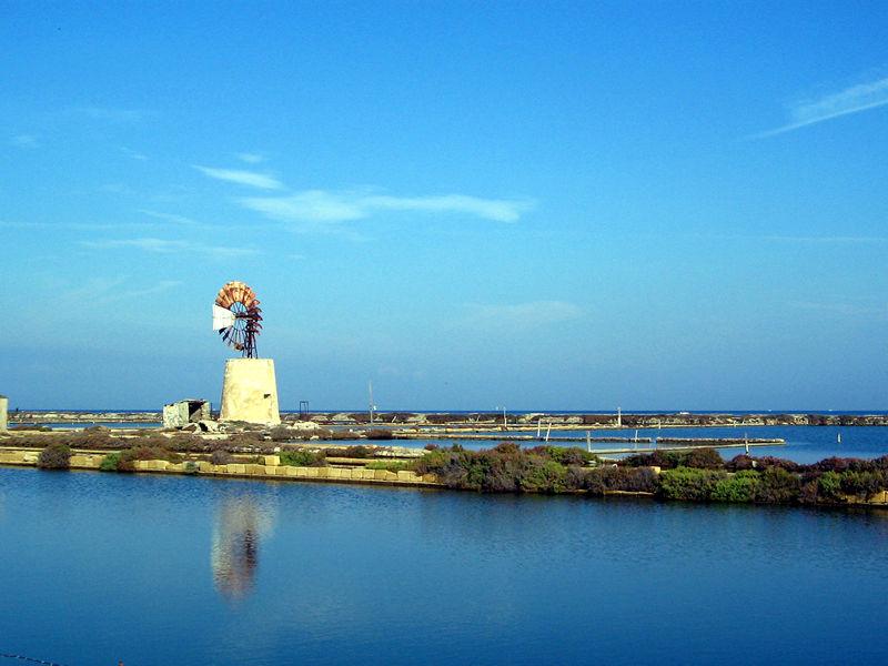 Windmill and salt pans