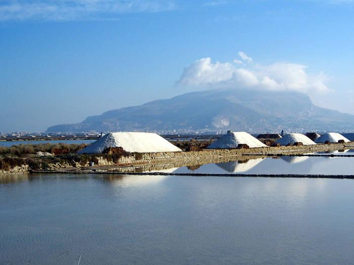 Landscape in Trapani salt pans