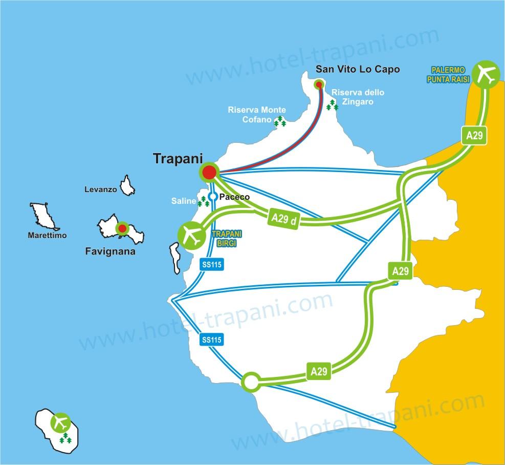 Itinerario mare Trapani