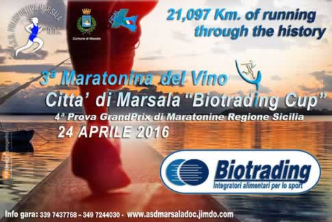 3rd marathon of wine in Marsala