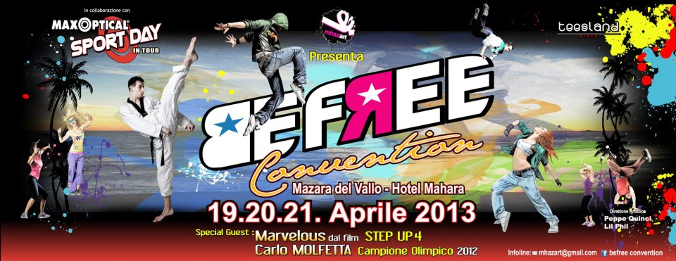 Be Free Convention, three days of fun in Mazara del Vallo April 19 to 21