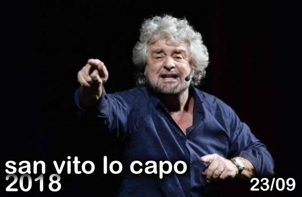 Beppe Grillo a San Vito lo Capo