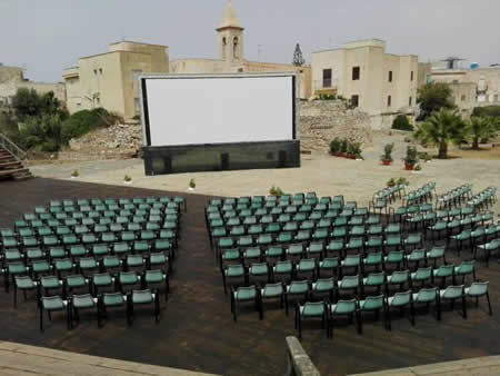 Cinema under the stars in Favignana