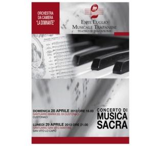 Concerto di Musica Sacra il 28 e 29 Aprile