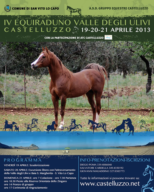 IV Equiraduno Valley of Olives Castelluzzo 19 to 21 April 2013
