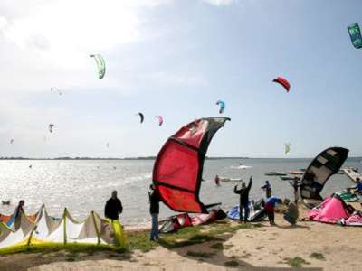 Kite Surfing world competition at stagnone in Marsala