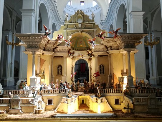 The royal nativity scene in the church of San Nicola in Trapani