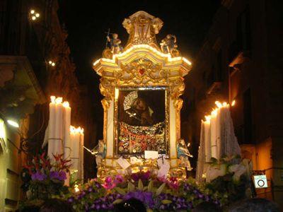 Madonna dei Massari e Madre Pietà in processione 2015