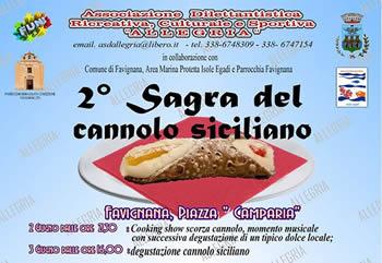 Sagra del cannolo siciliano a Favignana