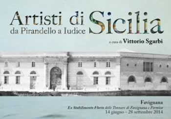 Sgarbi presents Sicilian artists at the Tonnara of Favignana