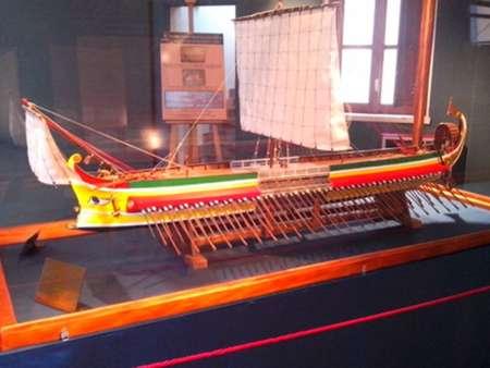 Roman trireme at Erice museum