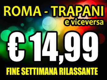 Rome Trapani flights at 15 euros