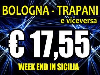 Volo Bologna Trapani a 17,75 euro