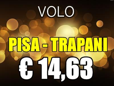 Volo Pisa Trapani a 15 euro