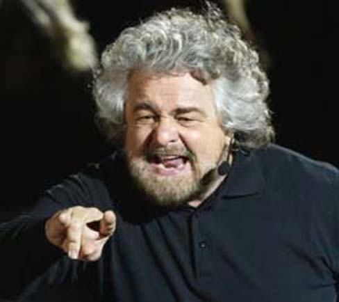 Beppe Grillo in Trapani the 15th of January