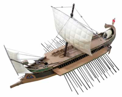 A romana ship to promote the Egadi islands