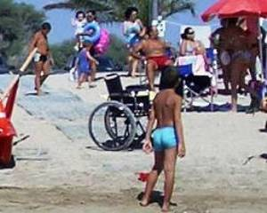 Beach for disabled people in San Vito Lo Capo